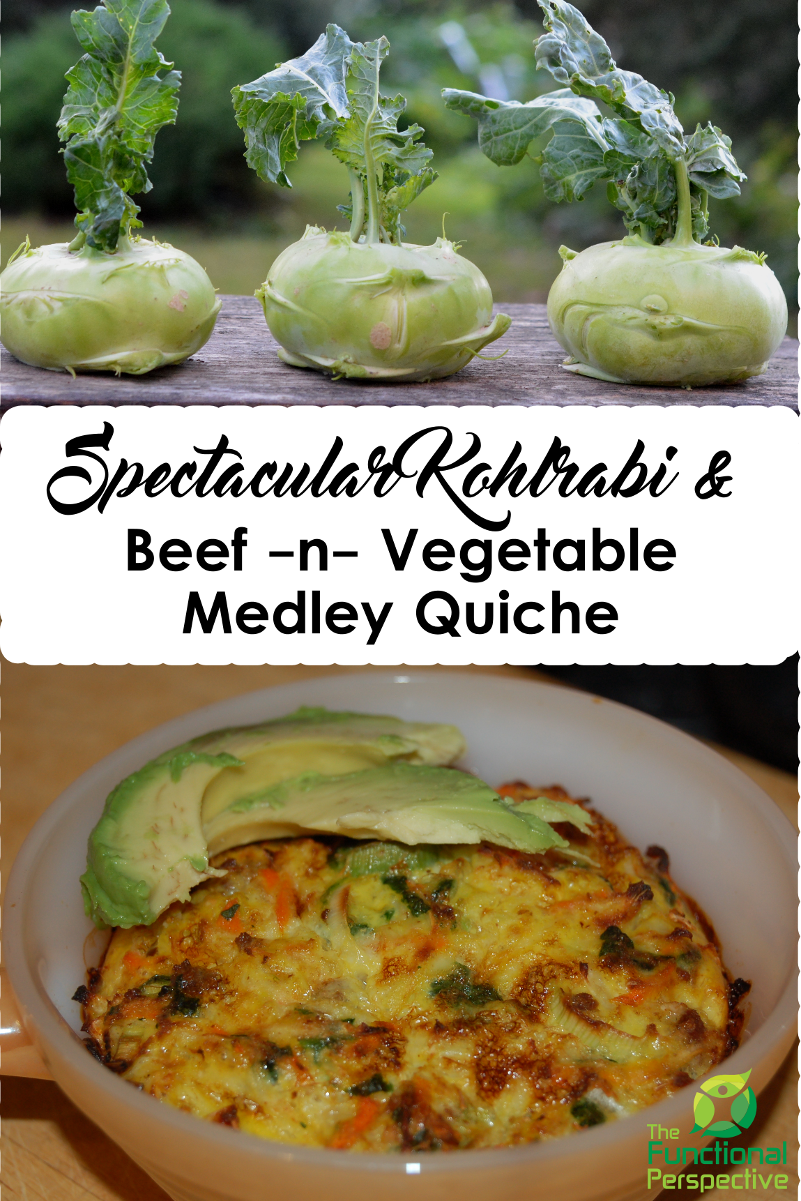Spectacular Kohlrabi & Beef Vegetable Quiche